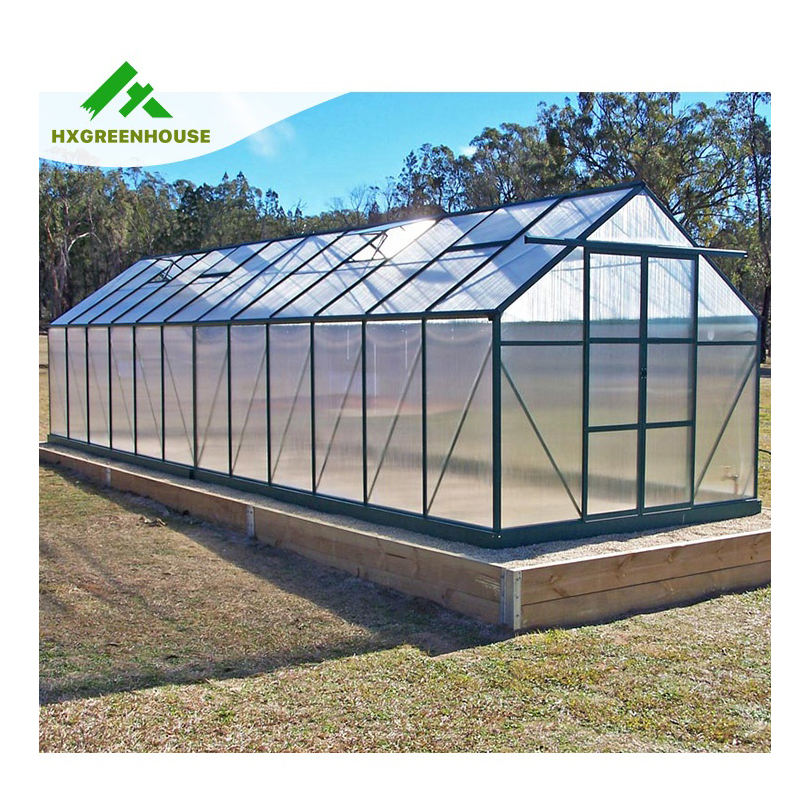 Metal aluminium houses sell used small mini low cost frame polycarbonate commercial garden greenhouses green house greenhouse