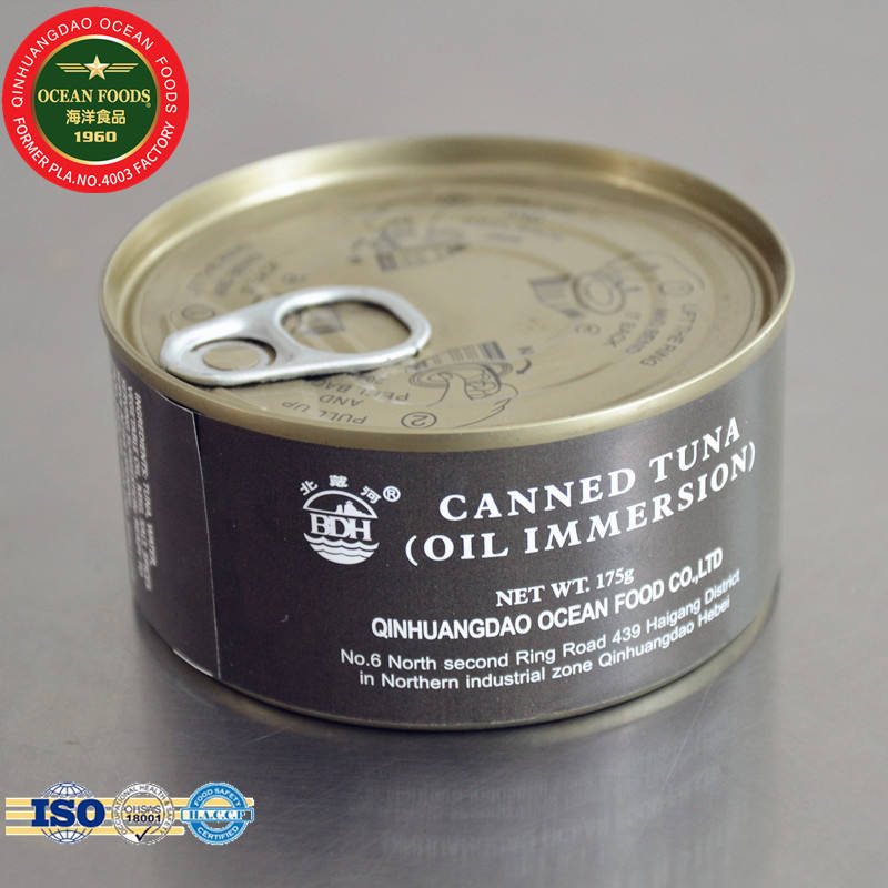 Tinned tuna 175g can of tuna fish oil immersed