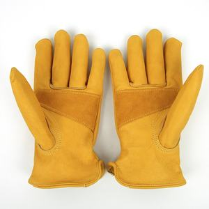 Fashion AB grade top cow grain leather driver safety working gloves