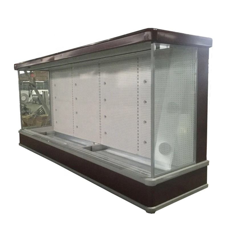 Showcase Upright Fruit Vegetables Cooler Refrigerator Commercial Supermarket Equipment Multi-deck Display