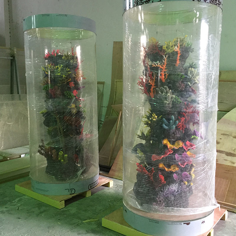 New product Acrylic Aquariums,clear acrylic fish tank with LED light