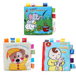 Good night dog baby print soft cover cloth book china baby toys