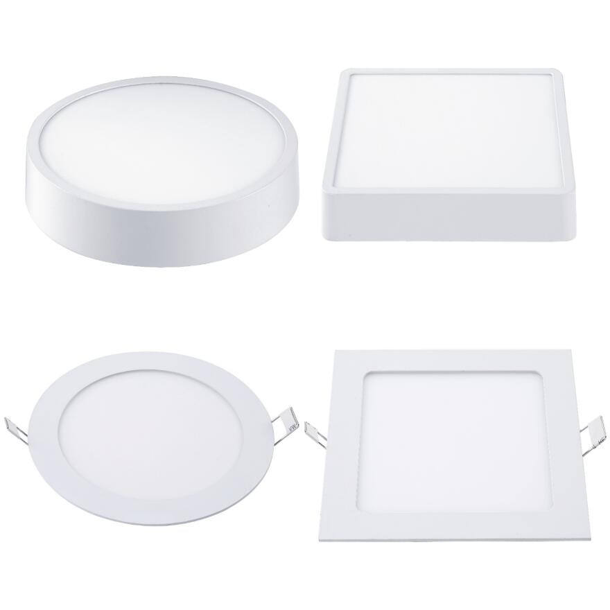 嘉興工場Indoor 6W 12W 18W 24W Round SilmとSurface SMD SmallラウンドLed Panel Lightメーカー中国