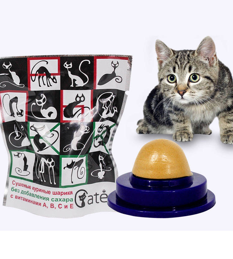 Pet cat snack catnip candy solid nutrition gel energy ball toy