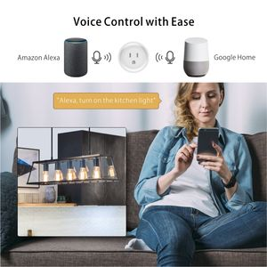 Wireless US Standard Smart Socket Tuya Smart Life Google Home Amazon Alexa Mini WiFi Smart Plug