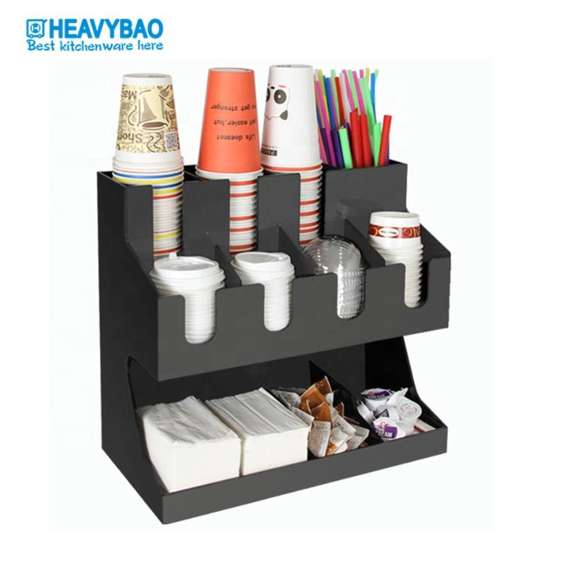 Heavybao New Product Wholesale Custom Plastic Coffee Cup Holder Paper Cup Dispenser