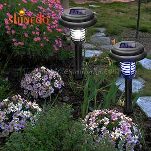 Zonne-energie Led Outdoor Yard Garden Gazon Licht Waterdicht Anti Mosquito Insect Pest Bug Zapper Killer Trapping Led Lamp
