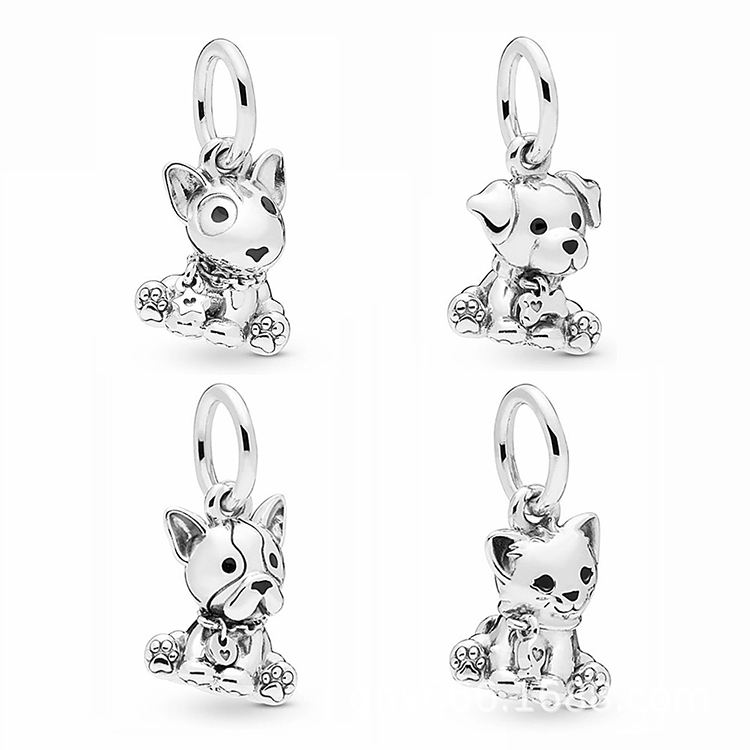 Wholesale High Quality Girl Fashion Sterling Silver Bangle Animal Charms Fancy Pendant For Women