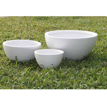 Factory direct hot selling light weight white bowl flower pots&pottery for garden planting