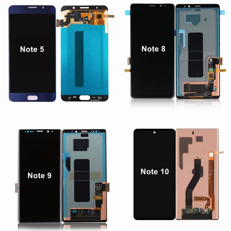 Full Set LCD For Samsung Galaxy Note 5 N920 Note 2 3 4 8 9 10 Plus 20 Ultra LCD Screen Display Digitizer Touch Assembly