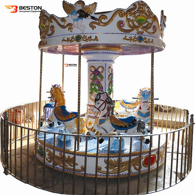 Good price coin operated mini indoor ride musical carousel toy for children