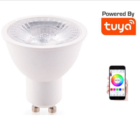 Tuya 5W GU10 Tuya Controlled WIFI Color Changeable Smart Led Spot Light With Music Function
