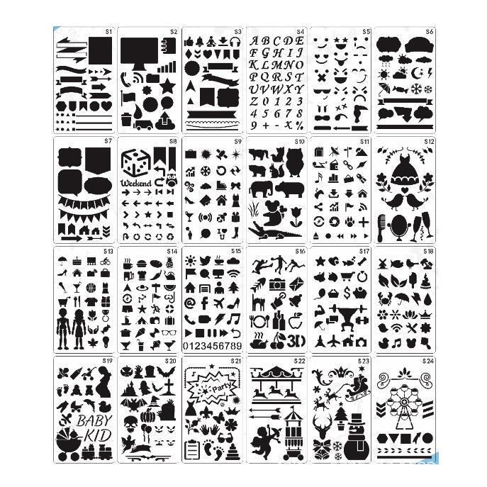 à découper craft le plastique stencil ensemble tirage de bricolage modèle album
