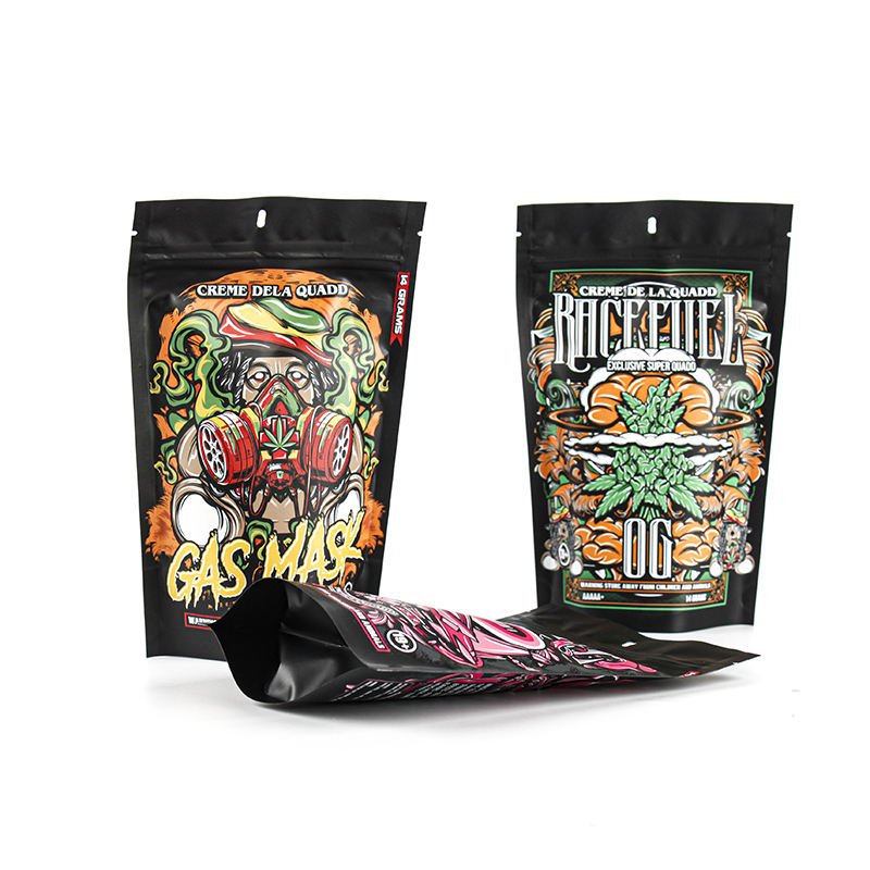 Smell Proof Weed Runtz Custom Printed Plastic Zipper Mylar Packaging Bag