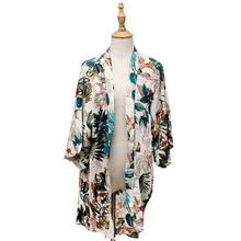 New Arrivals 2020 Women Long Cardigan Printed Kimono ,Loose Casual Wear