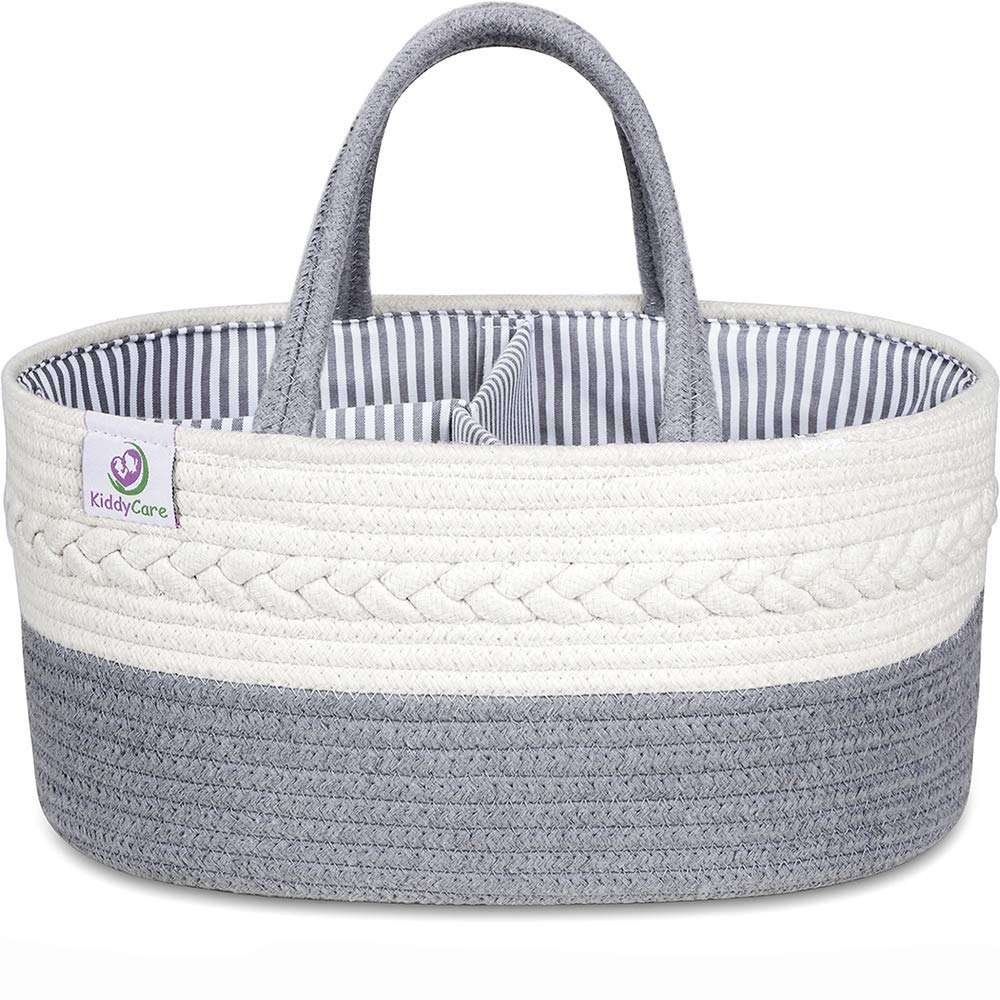 Rope Nursery Bin 100% Cotton Portable Storage Baby Changing Basket Diaper Caddy Organizer Baby Gift Baskets