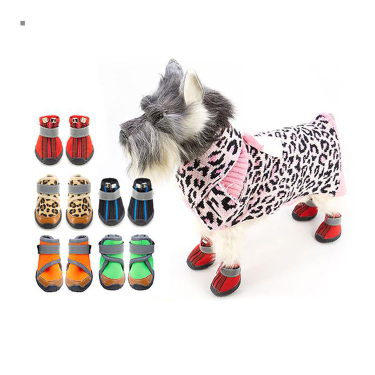 T-3 Custom puppy footwear sneakers wholesale Pet apparel dog waterproof boots anti slip protect paw dog shoes