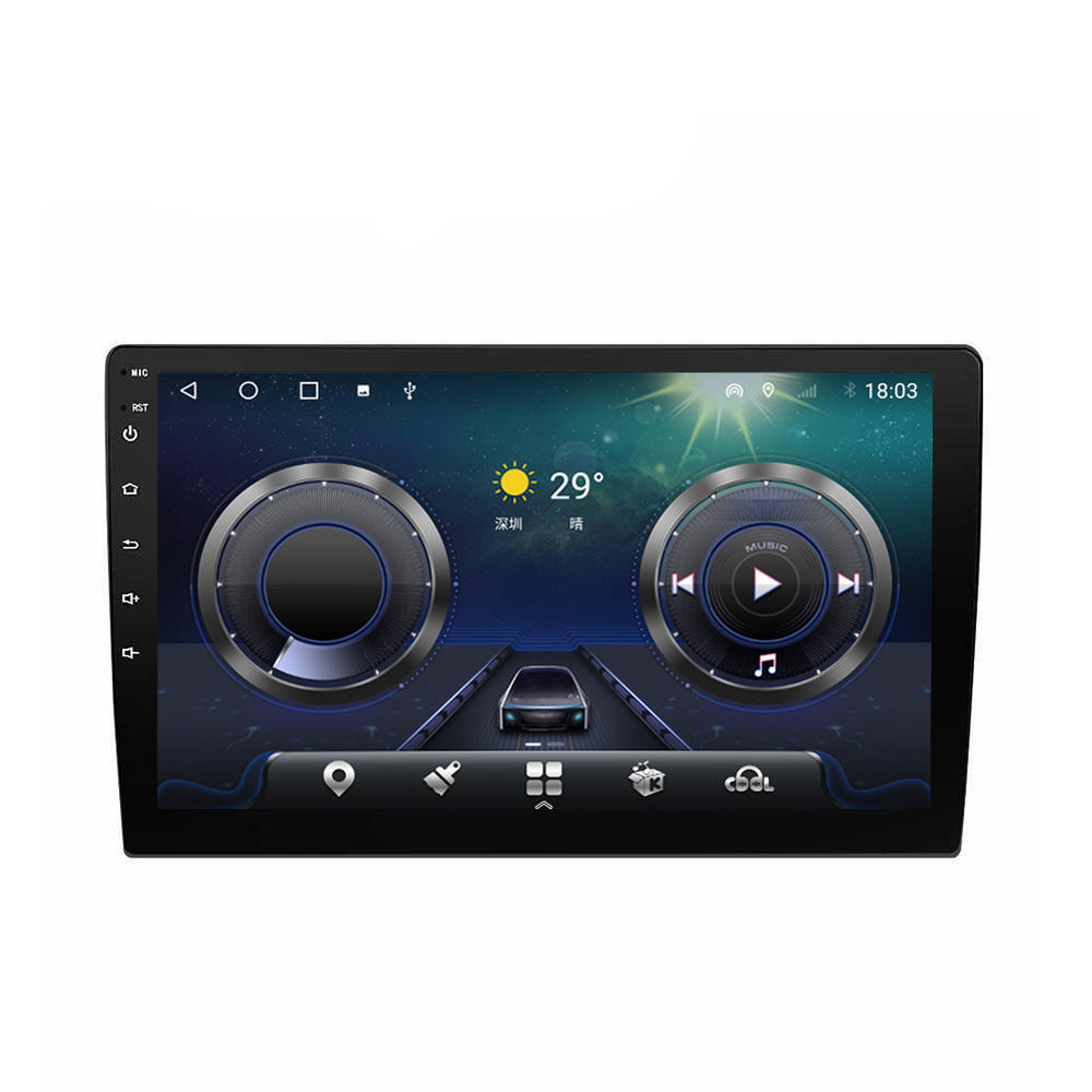 2021 Hot Sale Auto Android 10 9.0 Autoradio 9 Zoll 2GB 4GB RAM 64GB 1Din Bildschirm Radio DSP Auto Multimedia Single Din IPS Coche <span class=keywords><strong>DVD</strong></span>