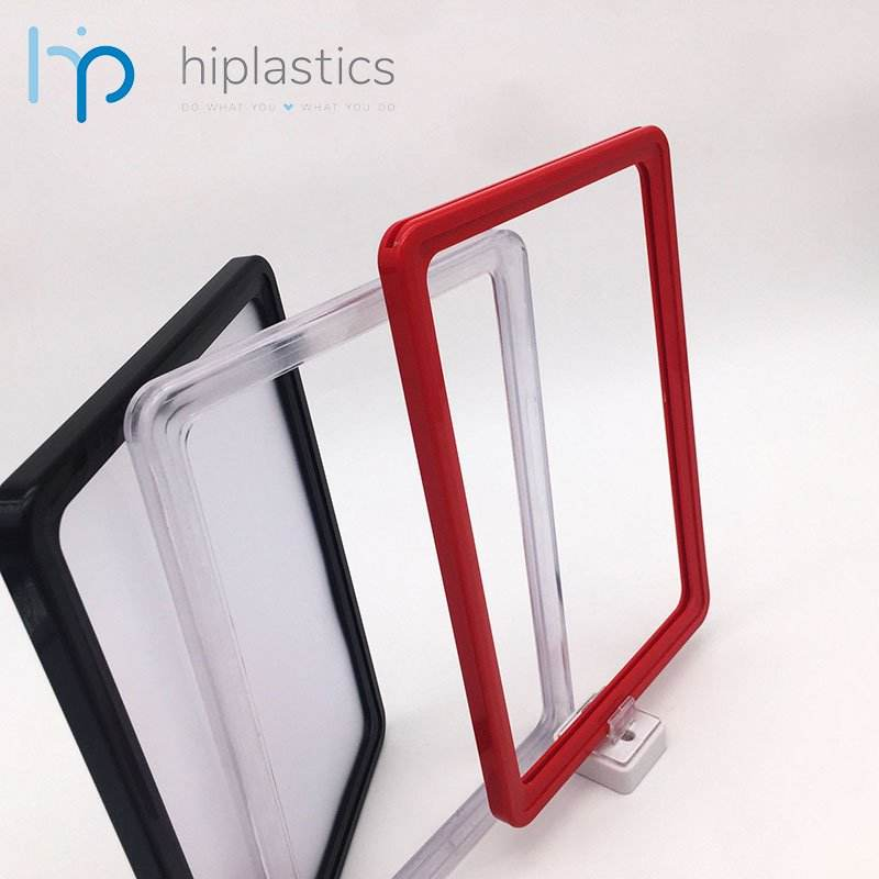 Hiplastics customized manufacture price tag display stand frame free standing label holders