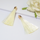 Tassel Keychain Wholesale DIY Decoration Accessories Golden Hooded Silk Tassel Pendant Bookmark Earrings Clothes Keychain Multicolor Tassel