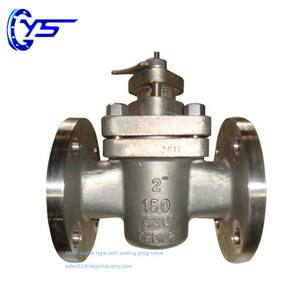 GS-C25 Carbon Steel ANSI DIN Sleeve Type Soft Sealing Plug Valve
