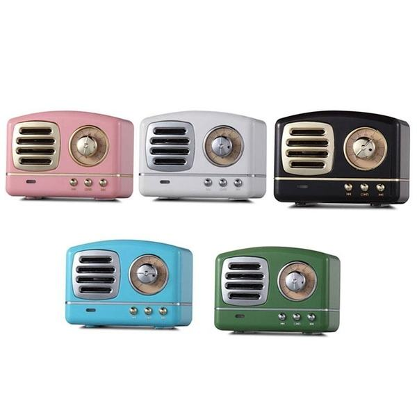 2019 Amazon caliente estéreo HIFI mini portátil TV Retro Altavoz Bluetooth con Radio FM micrófono Aux TF U disco