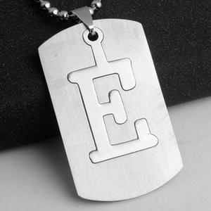 Rvs 26 Beginletter Alfabet Ketting Militaire Leger Dog Tags