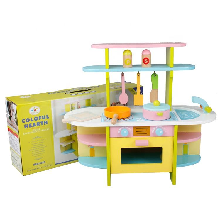 Kids Mini Toy Gourmet Kitchen Set with Accessories Toddler Play Kitchen Set For children AT11145