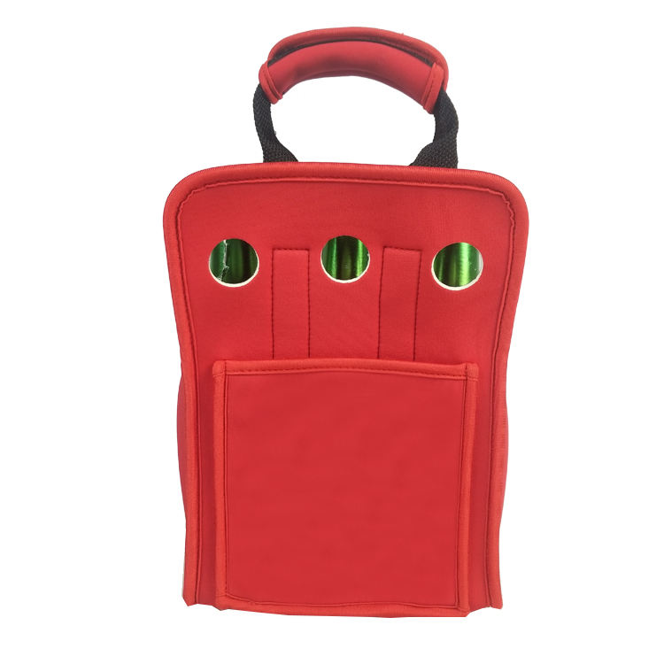Free Sample Insulated Beer Water Can Carrier 6 Pack Tote Neoprene Wine Bottle Holder