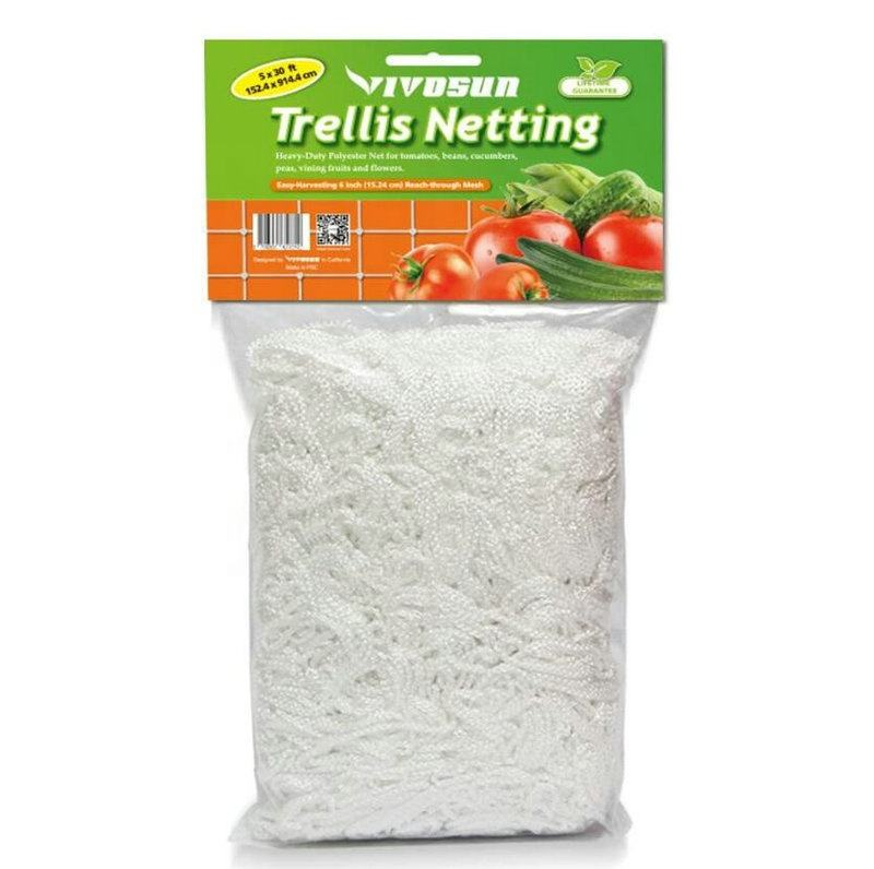 5 x 30ft Heavy-Duty Polyester Plant Trellis Netting 1 Pack