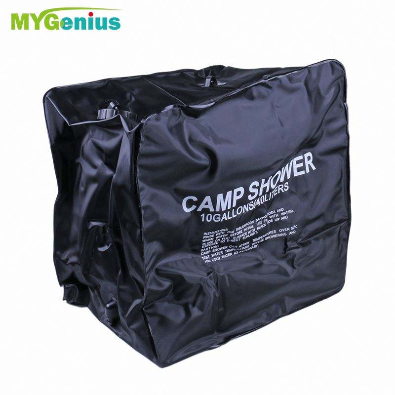 Camping shower bag solar air kandung kemih, h0tum berkemah portabel shower