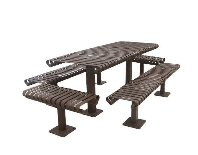 Outdoor garden metal Beer Table with Bench Set