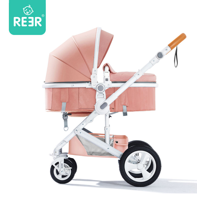 REER Luxury Compact Kids Pram Organizer Carriage Lightweight Wagon Stroller With Car Seat 3 In 1 Foldable Baby Strollers