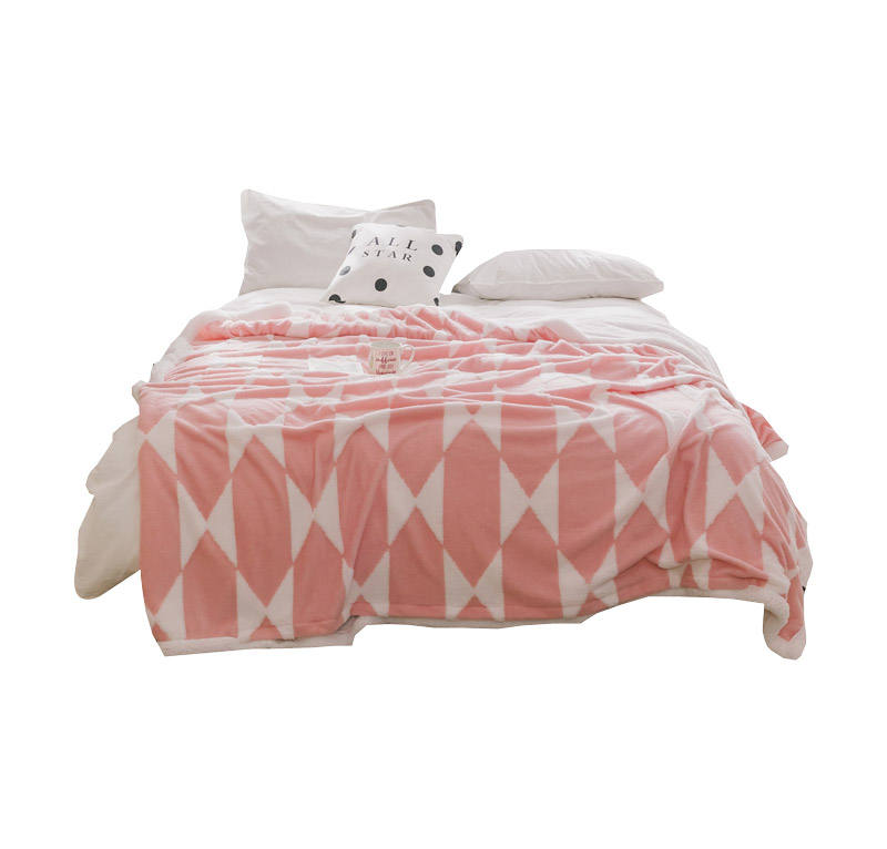 super soft flannel fleece blanket for bed with high quality