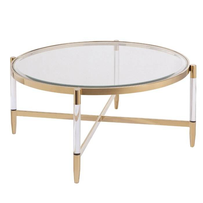 Gold Finish Ronde Acryl Salontafel Moderne Roestvrij Tafel Metalen <span class=keywords><strong>Accent</strong></span> Tafel
