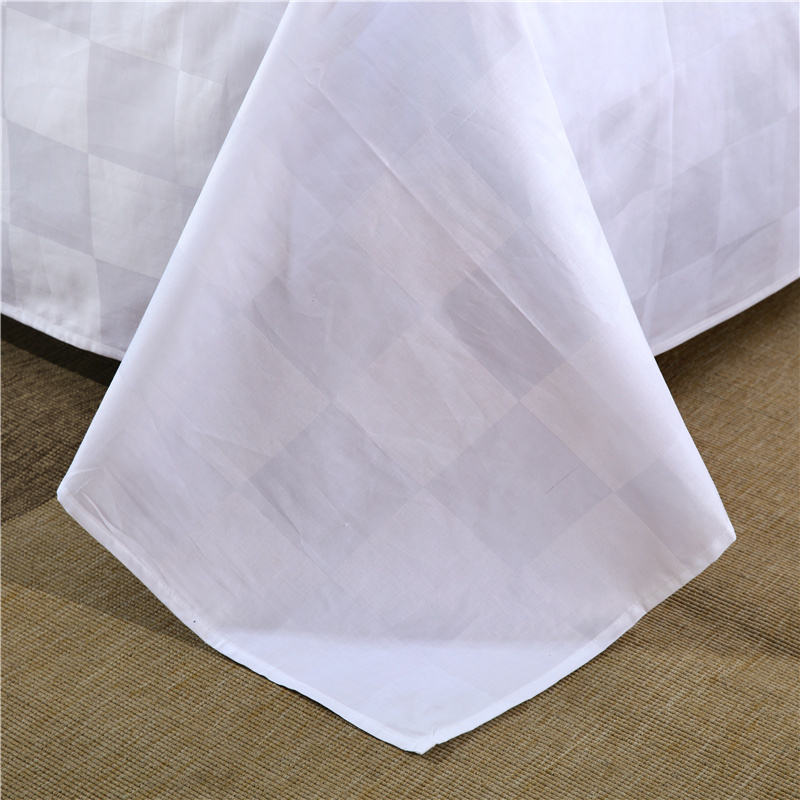 white hotel quilt cover set jacquard fabric 100% 100 combed cotton
