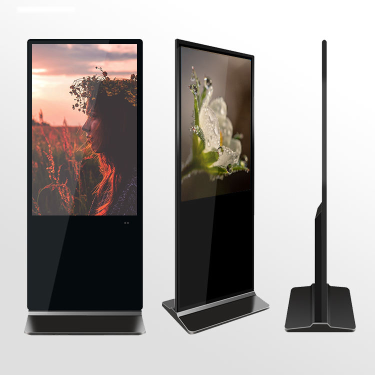 43 pollici lcd digital signage media player indoor verticale Android schermo interattivo pubblicità display stand da pavimento totem