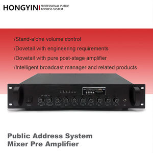 Siaran Profesional AUX/MP3/FM Public Address SYSTEM Mixer Digunakan Amplifier
