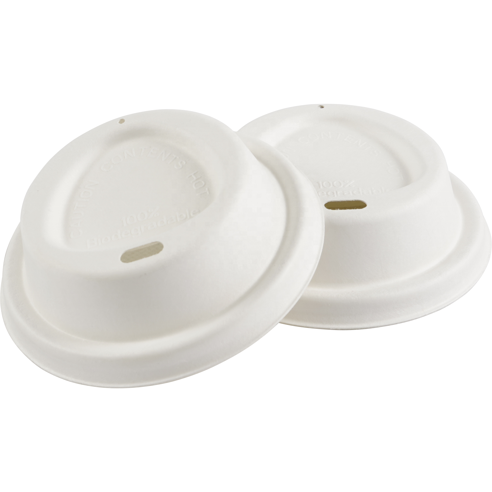 80mm Biodegradable Paper Coffee Cup Lid - Pulp Cup Lid Customize Pulp Molded Pulp Package