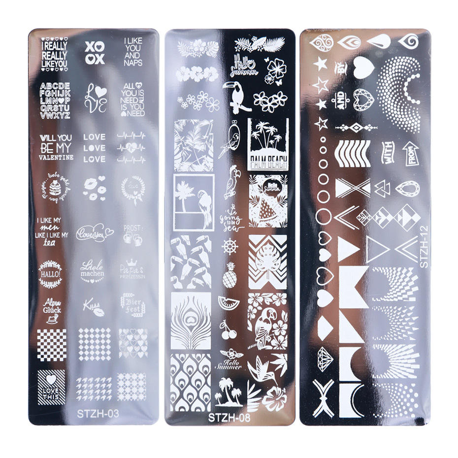 TSZS 2020 High Quality Professional DIY Nail Salon Products Metal Gel Nail Polish Stamp Plates Nail Art Stamping