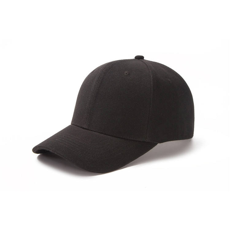 Plain Plain Black Caps High Quality Custom Black New Blank Plain Cotton Sport Hats 6 Panel Baseball Cap