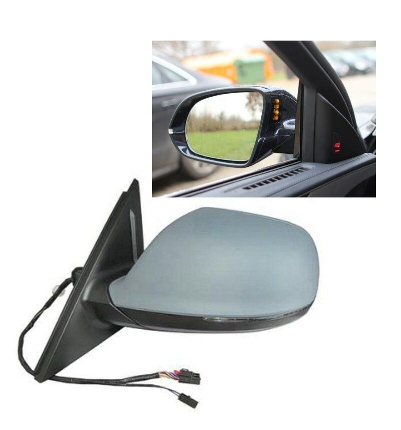 8R1857409F For Q5 09-17 SQ5 14-17 Driver Left Power Heated Door Mirror With Signal TYC 8R1-857-409F