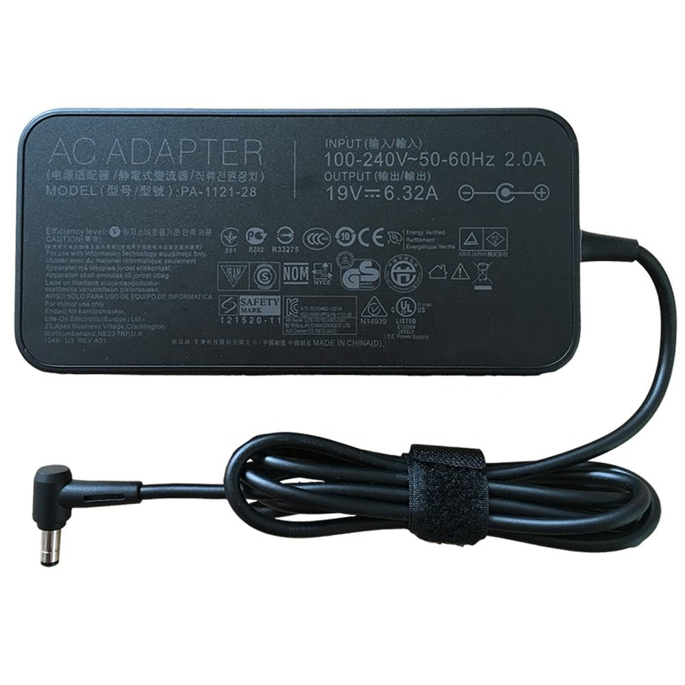 19V 6.32A 120W Charger AC <span class=keywords><strong>Adaptor</strong></span> untuk ASUS FX570 FX570UD FX570U X570UD X570U Q535u Q535ud Q536fd Q536f X570zd ux550vd Ux550ve