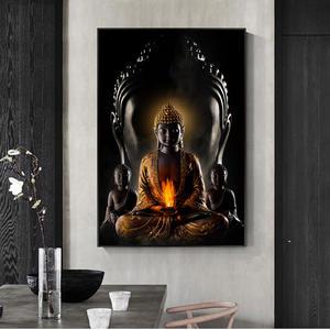 Buddha on Leaf Wall Hanging White Metal Tibetan Buddhist Figurine Home Decor N40