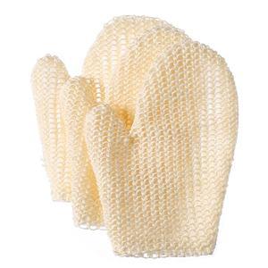 Natural Fiber Hemp Bath Exfoliating Glove Scrubber Loofah Mitt Washcloths Sisal Shower Bath Glove