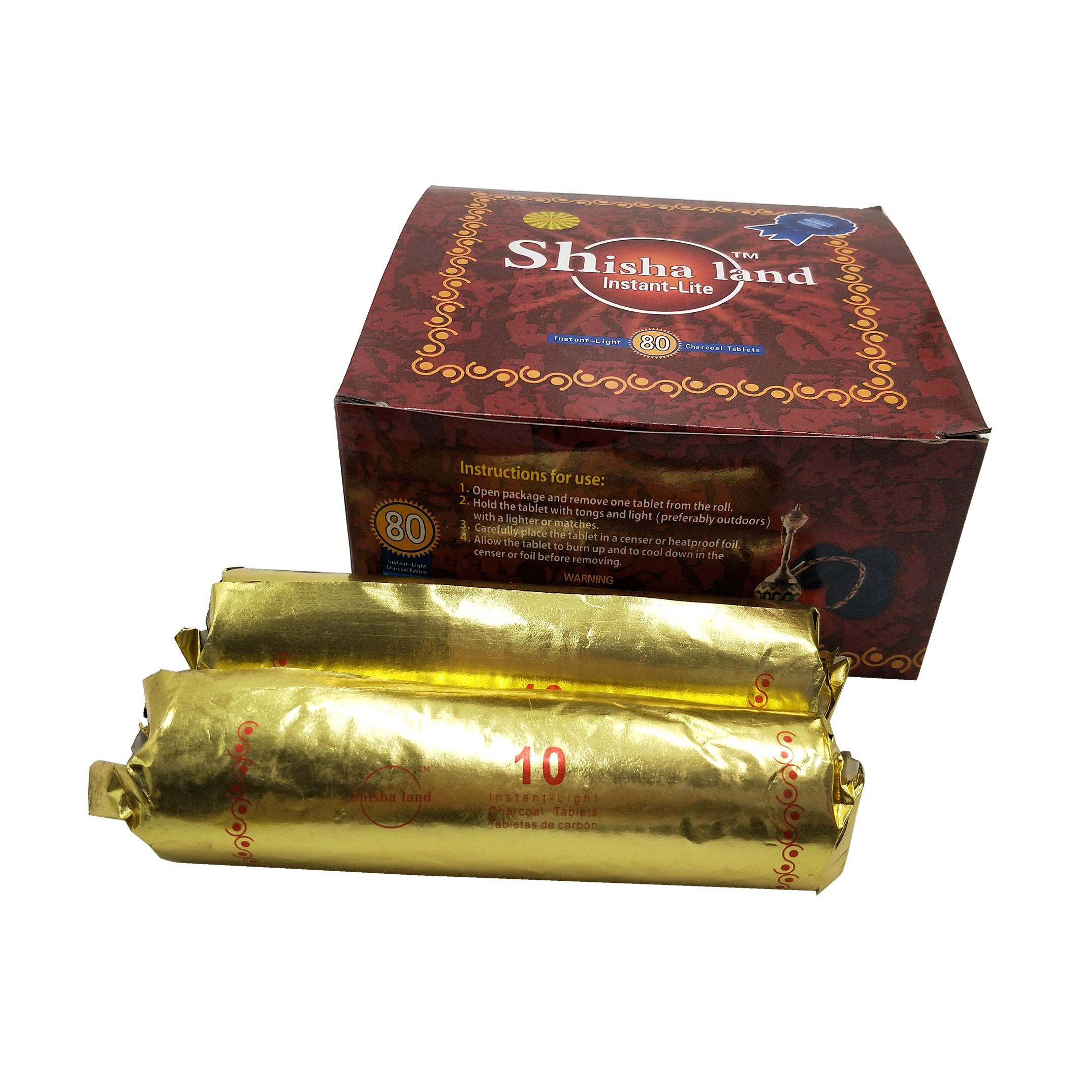 Gold Star 40 Mm Shisha Charcoal 10 Roll 100 pieces AUTHENTIC