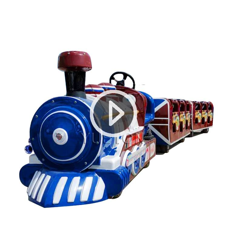 Factory Price Shopping Mall Tourist Small Kids Rides Mini Amusement Park Electric Trackless Train For Sale