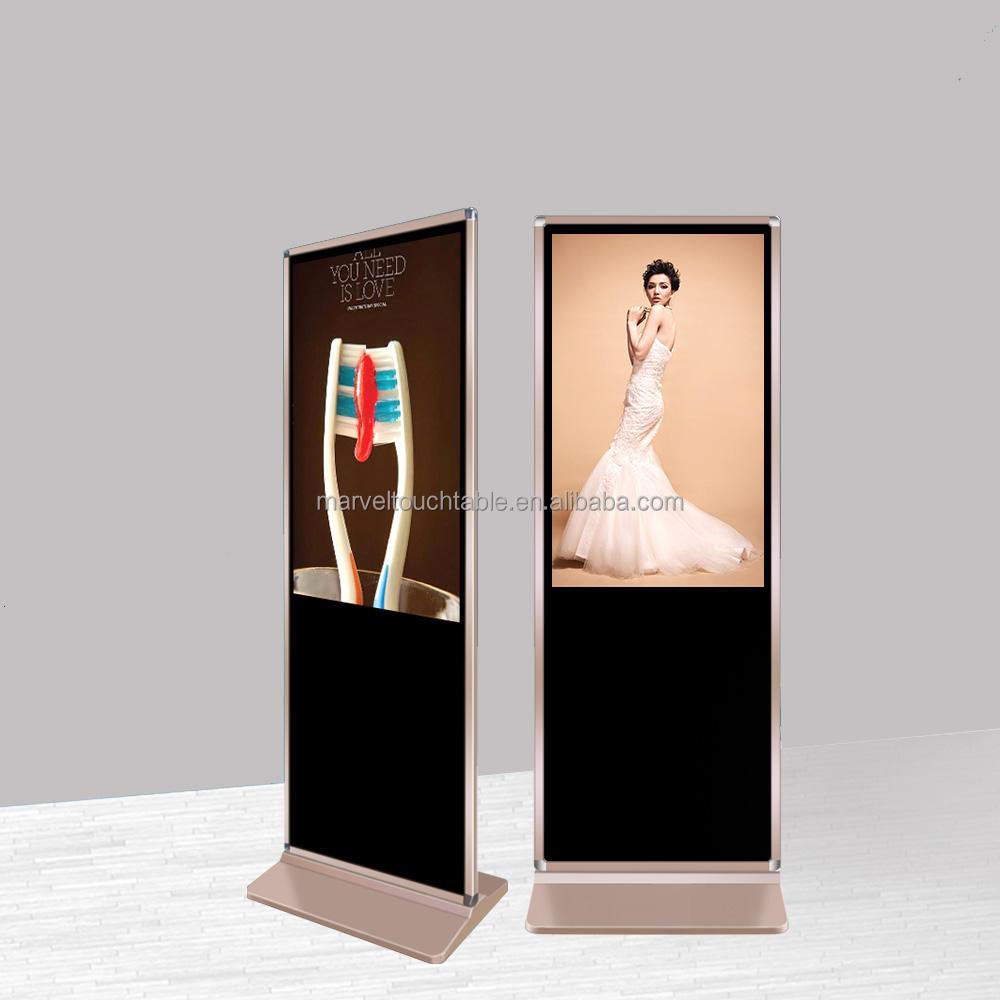 Vendita caldo mini-hifi LG Pannello <span class=keywords><strong>LCD</strong></span> touch screen ad floor stand digital media player con rete