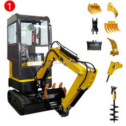 CE EPA Cheap Price Chinese 1 ton mini excavator 2 ton hydraulic crawler excavator for sale
