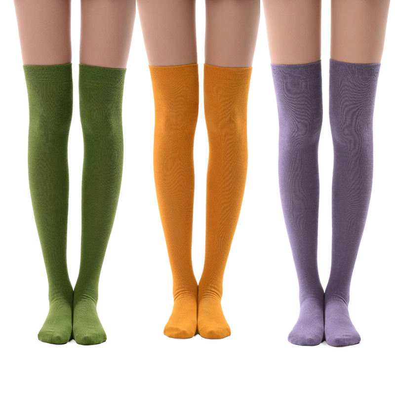 MEIKAN 18 Color Thigh High OverをKnee Compression Women Stockings